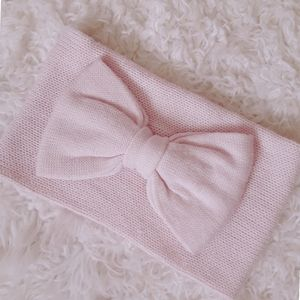 Kate Spade, infinity/cowl scarf, baby pink, knit
